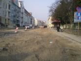 Budowa linii tramwajowej w ulicy Kościuszki (20 marca 2015)