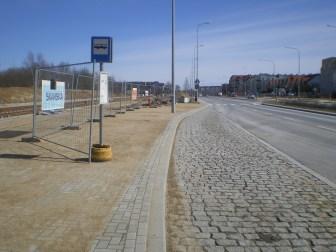Budowa linii tramwajowej przy ulicy Witosa (22 marca 2015)