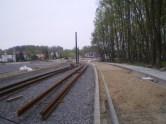 Budowa linii tramwajowej przy alei Sikorskiego (28 kwietnia 2015)