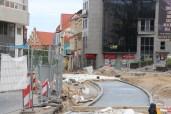 Budowa linii tramwajowej na placu Jana Pawła II (18 czerwca 2015)