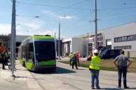 Solaris Tramino Olsztyn #3001 w zajezdni tramwajowej (12 czerwca 2015) Fot. Rafał Zadrożny