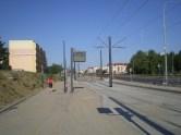 Budowa linii tramwajowej przy ulicy Witosa (15 sierpnia 2015) - przystanek Witosa