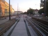 Budowa linii tramwajowej w ulicy Kościuszki (15 sierpnia 2015) - przystanek Plac Wakara