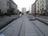 Budowa linii tramwajowej w ulicy Kościuszki (15 sierpnia 2015) - przystanek Kętrzyńskiego