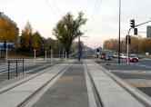 Linia tramwajowa przy alei Sikorskiego (31 października 2015) - skrzyżowanie z ulicą Wilczyńskiego