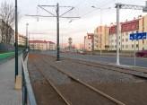 Linia tramwajowa przy ulicy Witosa (31 października 2015)