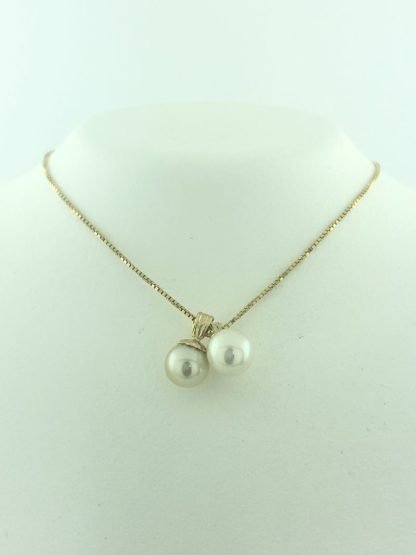 """14K YELLOW GOLD/2.6G/22"""" PEARL BALL NECKLACE"""