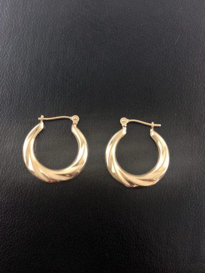 14K YELLOW GOLD EARRINGS/1.2G