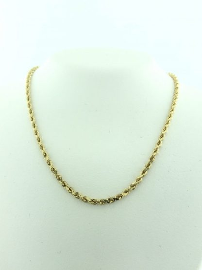 """14K YELLOW GOLD ROPE NECKLACE/7.0G/20"""""""
