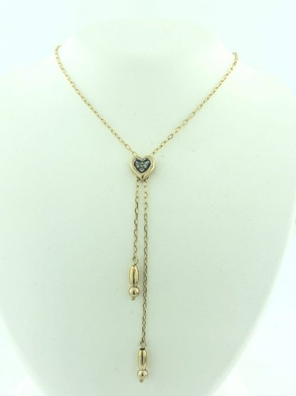 """10K YELLOW GOLD NECKLACE & PENDANT/1.7G/16"""""""