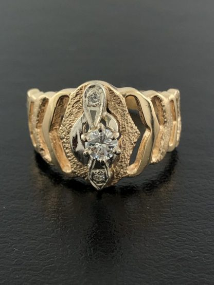 14K YELLOW GOLD FASHION RING/5.4G/7.50""