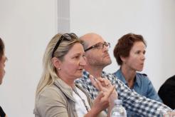 Sabine Fricke auf dem Podium (Foto: Tanja Schmith)