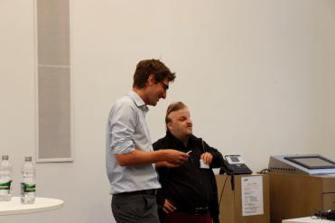 Lars Fischer im Gespräch (Foto: Tanja Schmith)