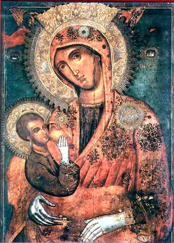 "Icon of the Virgin ""Galaktotrophousa"" (Γαλακτοτροφουσα, meaning ""the Milk-Giver"")"