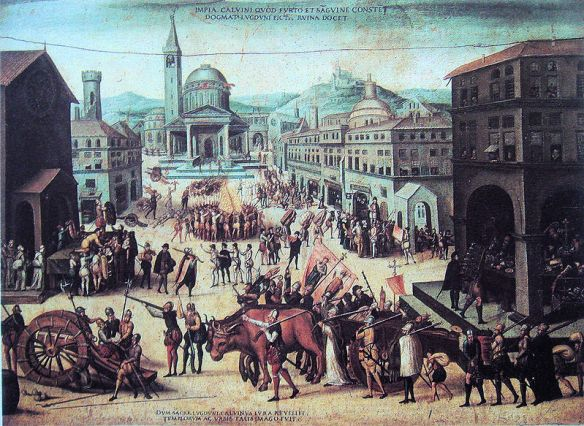Looting of the Churches of Lyon by the Calvinists in 1562 by Antoine Caron.