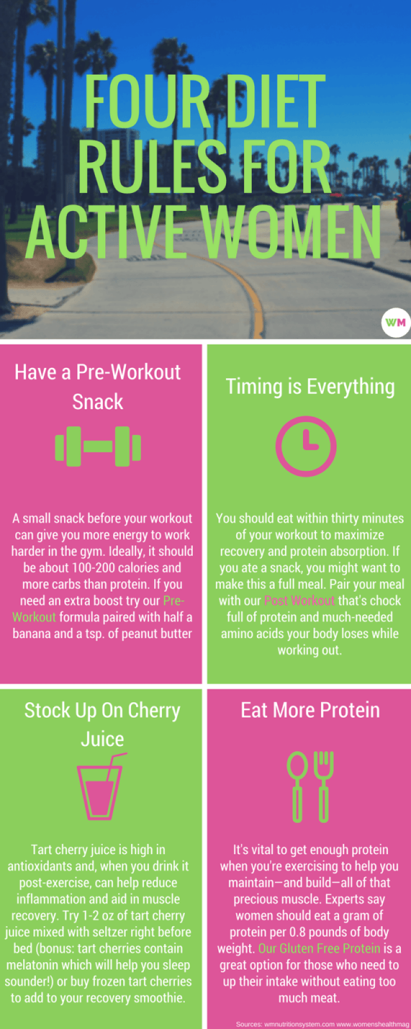 four diet rules for active women