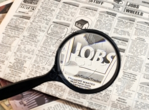 Jobs in newspaper image