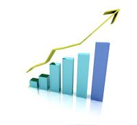 Chart showing upward trend