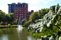Lake view at Aston University