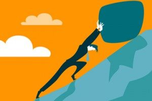Businessman pushing a rock up a hill Sisyphus 300x200 300x200 - Is CleverDome the Holy Grail of Cybersecurity?