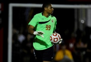 Georgetown's one goal on Zack Steffen would prove to be enough to push past the Terps on Tuesday night. (Courtesy of UMTerps.com)