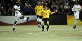 Mael Corboz proved to be a vital asset for the Terps in the 2014 season, finishing the season with a team-high 10 goals. (Courtesy of UMTerps.com)