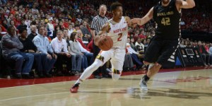 With a fresh new look Melo Trimble continues to dominate on the floor for the Terps. (Courtesy of UMTerps.com)