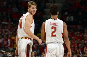 Jake Layman and Melo Trimble combined for 47 points in the Terps victory over Michigan State. (Courtesy of UMTerps.com)