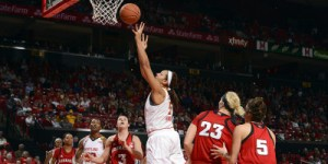 Malina Howard added 12 points and seven rebounds in the Terps victory over Nebraska. (Courtesy of UMTerps.com)