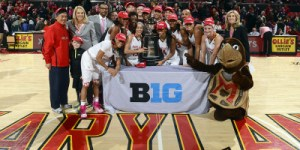 No. 5 Maryland celebrated their first Big Ten title. (Courtesy of UMTerps.com)