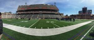 Maryland Football Pro Day at Byrd Stadium. (Courtesy of Marissa Morris.)
