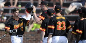 Terps win for teammate Tayler Stiles. (Courtesy of UMTerps.com)