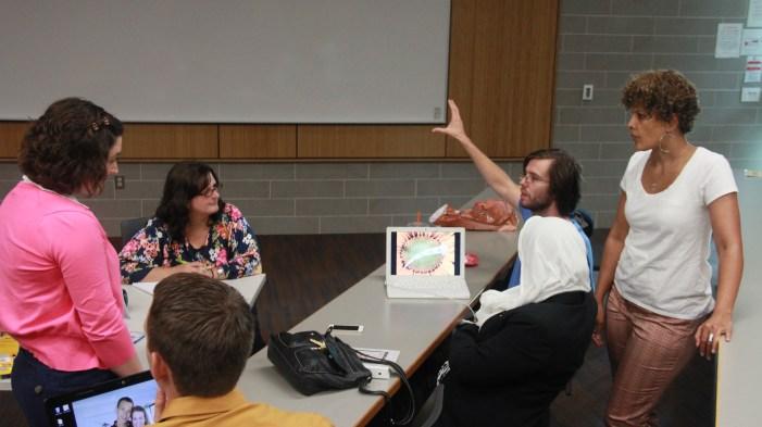 students workshop their ideas
