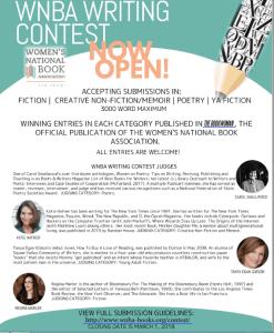 WNBA Writing Contest Details 2017 & Wacky Writing Contests