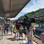 Anlässlich des Nationalparkfestes wurde Saarland-Rundfahrt in historischem Dampfsonderzug organisiert