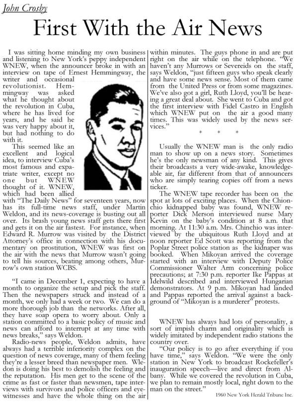 John Crosby column Herald Tribune