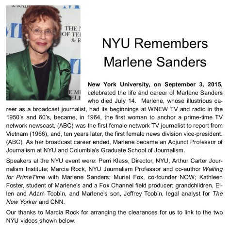 NYU memorial service