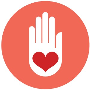 friends heart in hand icon