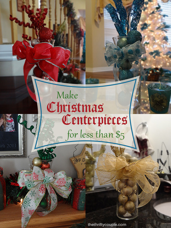 Easy And Gorgeous Christmas Centerpieces With Supplies
