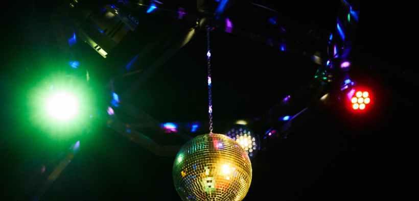 disco ball hanging