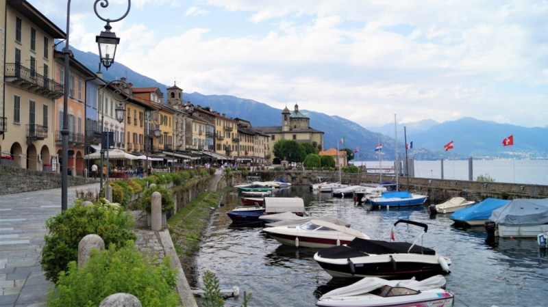 Die Uferpromenade in Cannobio wird noch voll