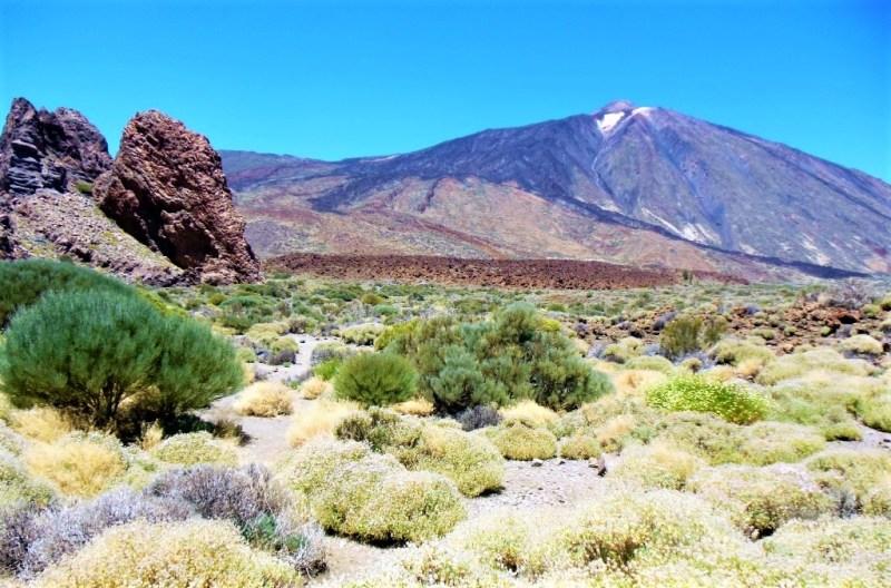 Der Teide im Nationalpark ist der höchste Berg Spaniens, er befindet aich auf Teneriffa kanarische Inseln