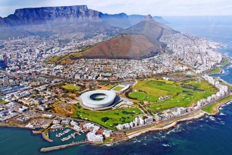 Kapstadt - Afrika von oben