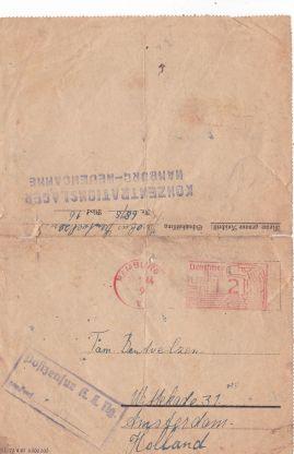 Concentratiekamp brieven Neuengamme tweede wereldoorlog
