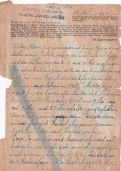 Concentratiekamp brieven Neuengamme 28-05-1944