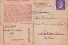 postkaart KZ Neuengamme