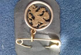 Sieraad uit de tweede wereldoorlog uitgezaagd 1 cent munt hangertje