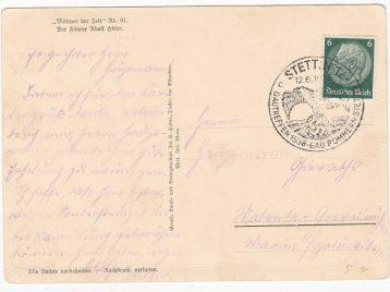 Postkaart Gautreffen 1938