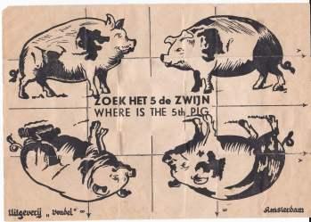 Zoek het vijfde zwijn