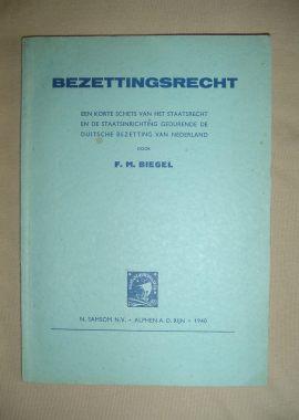 Boekje Bezettingsrecht uit de tweede wereldoorlog blauw